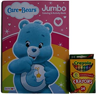 "Care Bears ""Bedtime Bear"" Jumbo Colouring and Activity Book with. Crayons"