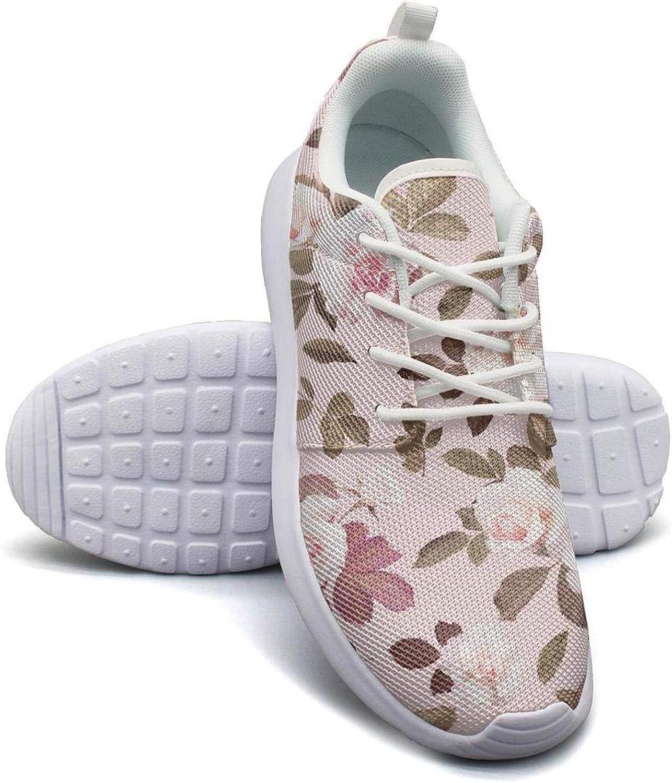 Hobart dfgrwe Beautiful Pink pink Flower Womans Canvas Casual shoes Simple Sneakers