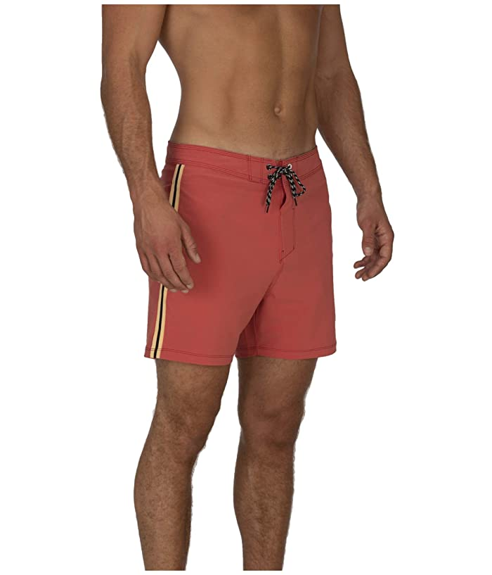 Hurley  16 Phantom Session Solid Boardshorts (Pueblo Red) Mens Swimwear