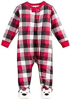 Christmas Lovely Bear Christmas Matching Family Plaid Pajamas Set for Family