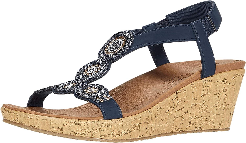 おすすめ Skechers Women's Beverlee-Date Glam Wedge WEB限定 Sandal