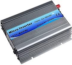 Y&H Grid Tie Inverter 600W Stackable DC11-32V Input AC110V MPPT Pure Sine Wave Micro Inverter fit for 12V Solar Panel/24V Battery