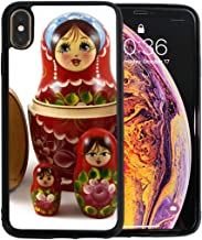 Colorful Russian Nesting Dolls Apple Phone Xs Max Case Screen Protector TPU Hard Cover with Thin Shockproof Bumper Protective Case for Apple Phone Xs Max 6.5 Inch