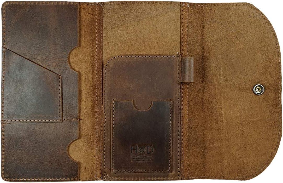   Hide & Drink, Leather Passport & Card Organizer, Holds Up to 6 Cards Plus Flat Bills, Boarding Pass Holder, Travel Essentials, Handmade : Bourbon Brown   Passport Covers
