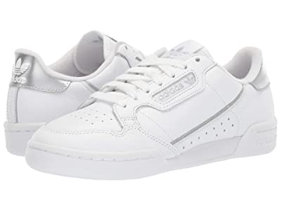 adidas Originals Continental 80 (Footwear White/Footwear White/Silver Metallic) Women