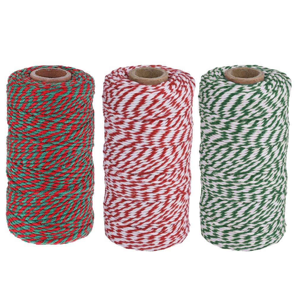 Guita de hilo navideño,hilo de algodón artesanal de 3 rollos Guita ...