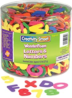 Chenille Kraft CK-4304 Wonder Foam Letters and Numbers, 6