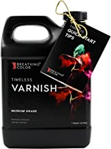 Timeless Archival Print Varnish - 1 Quart, Satin Finish, Highest Quality Canvas Coating, Water Based UV Protection, 100+ Years Certified Archival