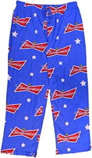 Mens Blue Knit Sleep Pants Lounge Pants Pajama Bottoms