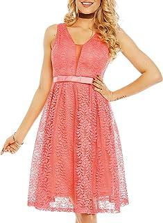 Unbekannt Damen Kleid Brautjungfernkleid Cocktailkleid Abendkleid Party Spitze M-8132