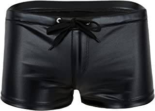 iiniim Mens Shiny Smooth Boxer Shorts Lounge Underwear Underpants with Drawstring
