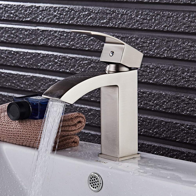 Waschtischarmatur Traditionelle Messing Wasserhahn Wasserfall Waschbecken Waschbecken Mischbatterie Einhand Waschbecken Wasserhahn Bad Wasserhahn