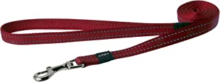 "Reflective Dog Leash for Medium Dogs, 5/8"" wide, 6' long, Red"
