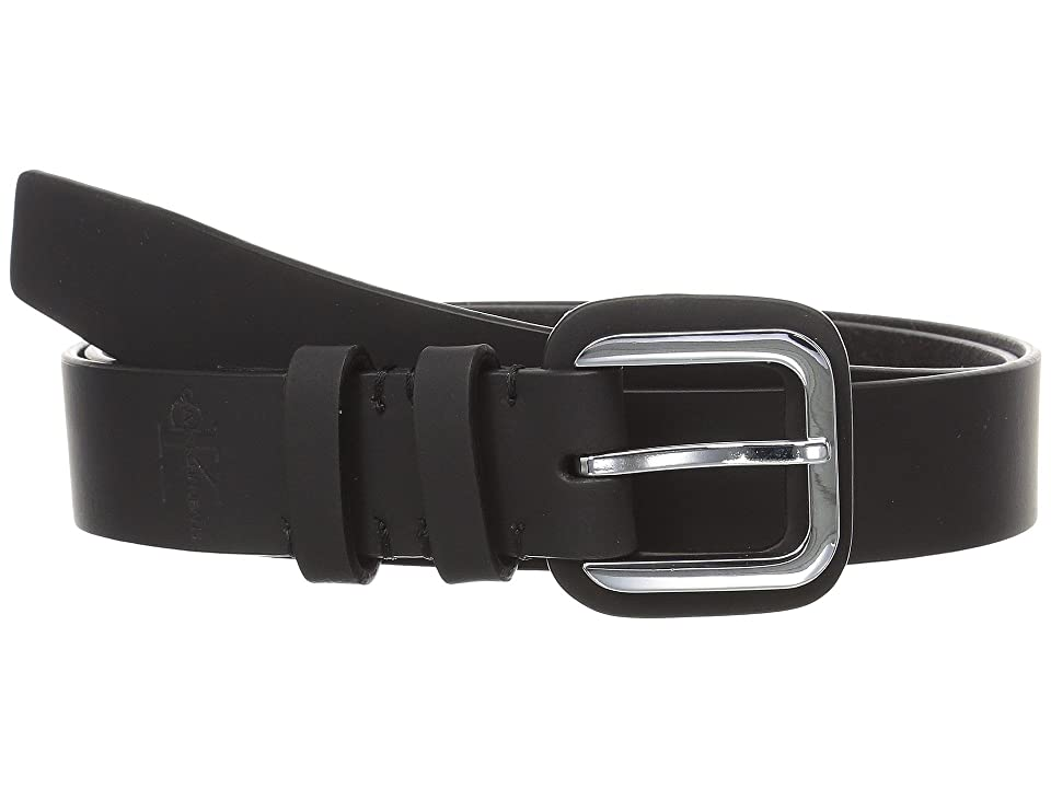 Calvin Klein 30mm Flat Strap w/ Buckle Guard (Black) Women