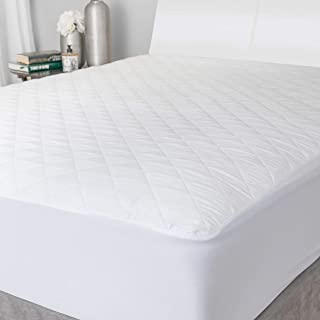 Mattress Bed Topper - The Quilted Fabric is Comfortable and Thick Enough to Get a Restful Night Sleep. The Plush Mattress ...