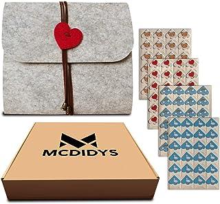 MCDIDYS   Album Fotos para Pegar y Escribir   Album Fotos Scrapbook   Personalizados   Romántico   DIY Fieltro Gris   40 P...