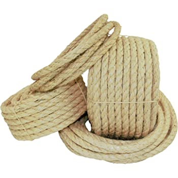 1,700 lb Pack of 500 1//2 Top Pack Supply Sisal Rope Natural