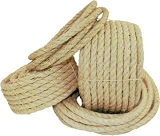 """Best SGT KNOTS Natural Fibers Twisted Sisal Rope - Moisture & Weather Resistant Rope for Marine, Decor, Indoor/Outdoor use (3/16"""" x 25ft) Review"""