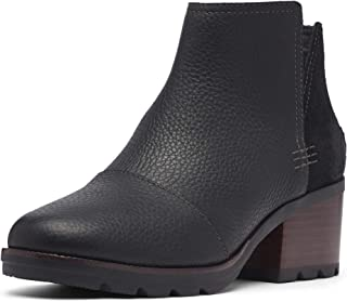 Women's Cate Cut Out Bootie Waterproof Ankle Boot with Stacked Heel
