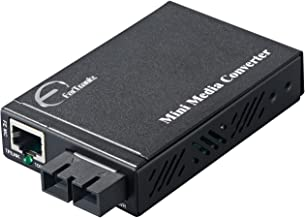 ForTronix Mini Ethernet Fiber Media Converter 10/100TX to 100FX Dual Duplex Fiber 1310nm SM(SC) 20km External Power Supply