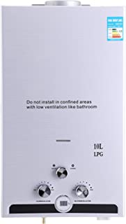 Z ZELUS 10L Calentador de Agua LPG Calentador de Agua