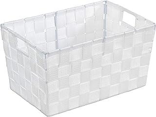 WENKO Panier de salle de bains Adria S, blanc - Panier de salle de bain, Polypropylène, 30 x 15 x 20 cm, Blanc