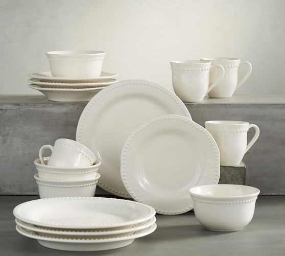 Emma 16-Piece Dinnerware Set | Pottery Barn