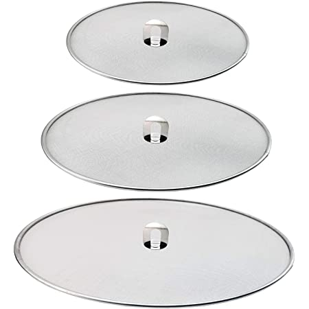 3 Pack Stainless Steel Mesh Silver Splatter Screen Guards Grease For Frying Pans