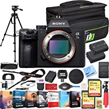 Sony a7 III Full Frame Mirrorless Interchangeable Lens 4K HDR Camera ILCE-7M3 Body Bundle with Deco Gear Travel Bag, 2X 64...