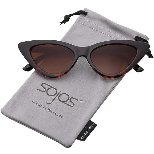4df281a532 SOJOS Gafas De Sol Mujer Ojo De Gato Moda Chic Super Cat Eye SJ2044