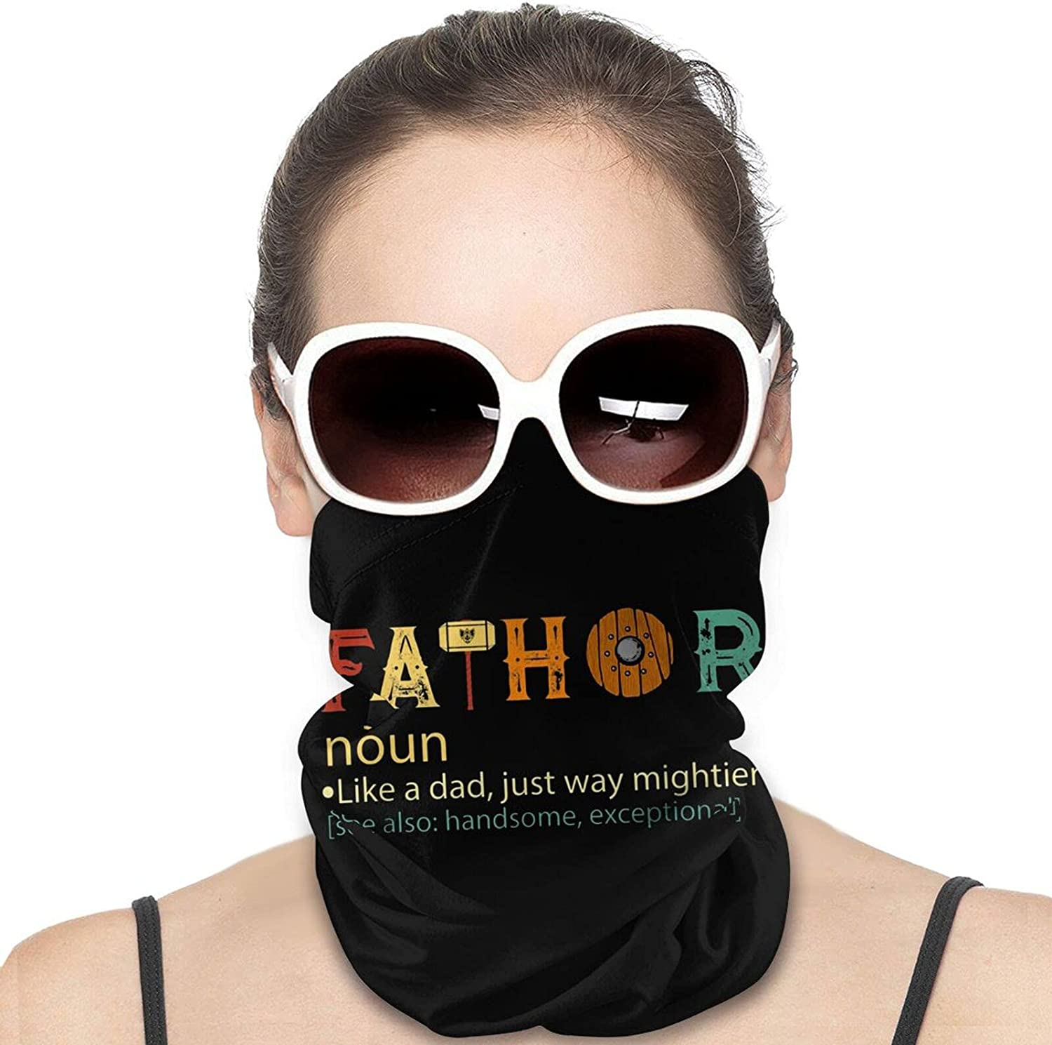 Like Dad Just Way Round Neck Gaiter Bandnas Face Cover Uv Protection Prevent bask in Ice Scarf Headbands Perfect for Motorcycle Cycling Running Festival Raves Outdoors