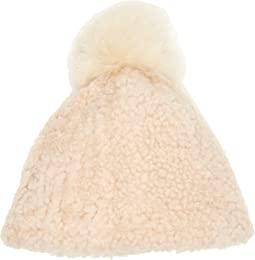 Exposed Curly Pile Beanie (Toddler/Little Kids)