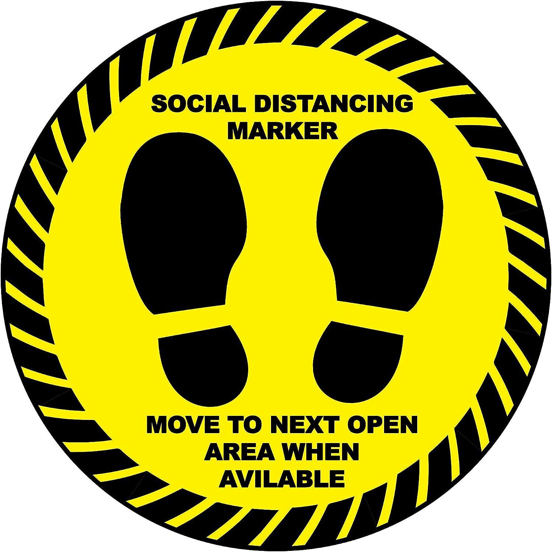 Chicago Mall 5 Dedication X Social Distancing Marker Circle Self Sign - Warning Sticker