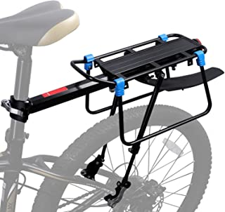 ICOCOPRO Bike Cargo Rack with Fender, 110 LB Capacity Universal Bicycle Touring Carrier, Quick Release Adjustable Bicycle ...