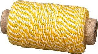 Rayher 55517161 Garn, 1 mm ø, auf Rolle ca. 35 m, SB-Btl 10 g, sonnengelb