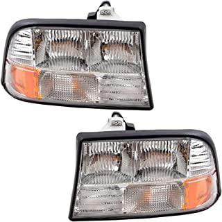 Replacement Pair Set Headlights for 98-04 Sonoma Pickup Truck