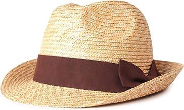 [アナグラム] ANAGRAM 麦わら 中折れ ハット (麦わら帽子 メンズ 大きいサイズ ストロー 紫外線 UV 対策 日焼け防止 日よけ ギフト 誕生日 男性 女性 父の日プレゼント 人気商品) AGM1500