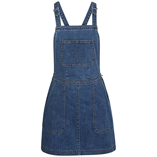 f38c038a4fe TTC Womens Ladies Denim Dungaree Skirt Stretch Dungaree Pinafore-Holly