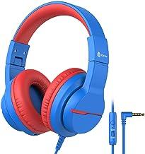 iClever HS19 Kinder kopfhörer über Ohr, HD Stereokopfhörer mit Mikrofon,..