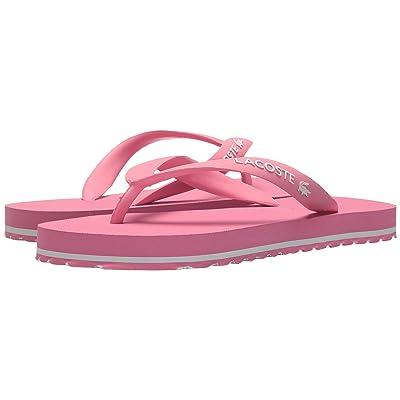 Lacoste Kids Nosara 118 1 (Little Kid/Big Kid) (Pink/White) Girl
