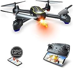 Asbww   Dron GPS con Cámara Full HD 1080p para Principiantes - Drone Cuadricóptero RC con Retorno Automático / Fotos y Vídeo HD 1080p / Transmisión en Tiempo Real FPV