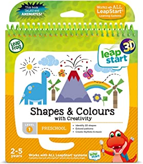 LeapFrog 460503 Shapes and Colours Activity Book 3D, Multicoloured