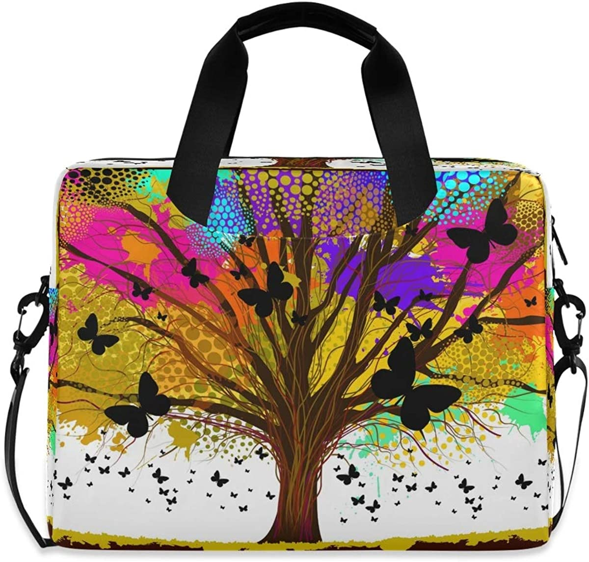 LELEGO Colorful Dot Tree Butterfly Chicago Mall 2021 model Bag Shoulder Ba Laptop