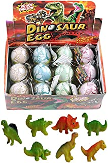 12 Pcs Novelty Magic Hatching Growing Pet Dinosaur Eggs For Kids (1 Dozen)