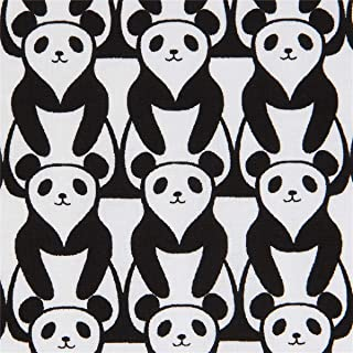 Timeless Treasures tela de osos panda en blanco y negro