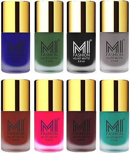 MI FASHION Matte Nail Polish Combo -9.9 ml Each product image
