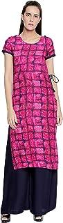 OOMPH! Women's Viscose straight Salwar Suit Set