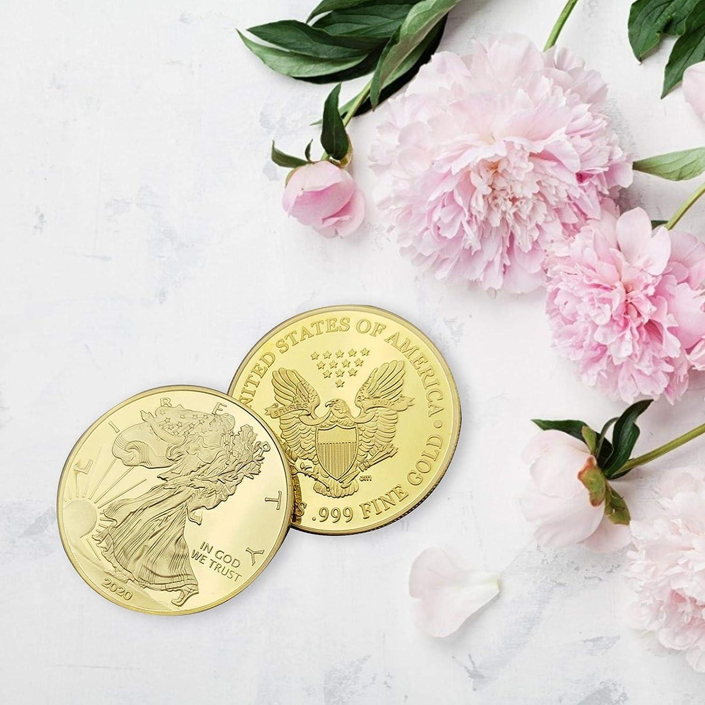 Pi/èce Daigle En Placage Dargent Am/éricain 40 3mm Monnaie Et Pi/èces De Collection Pi/èce De Cadeau Comm/émorative De La Statue De La Libert/é Am/éricaine 2020-2021