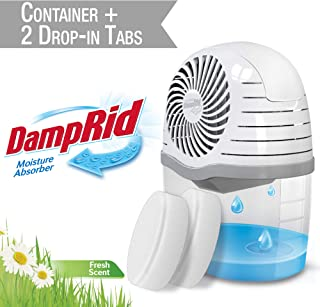 DAMPRID DR Drop Container + 2 FS TABS-SIOC Moisture Absorber, 2 Count, White, 15 Ounces