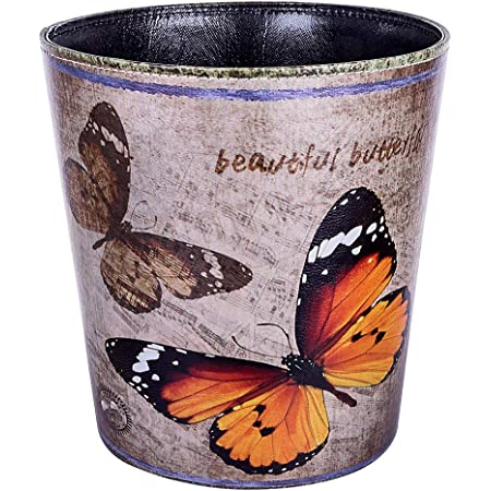 Home Butterfly Wastebasket Light Durable Plastic Design And Heightens Home Decor